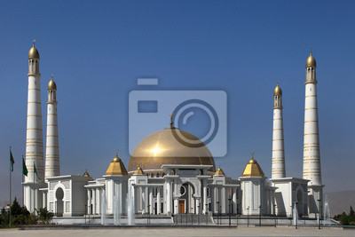 Sticker Moschee in Heimatdorf ersten Präsidenten von Turkmenistan Niya