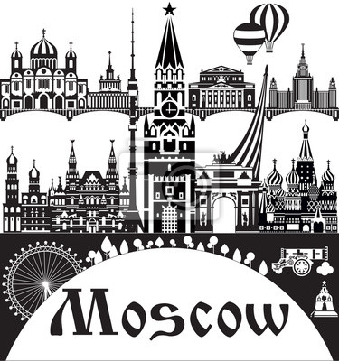 Moscow City Skyline vector 1