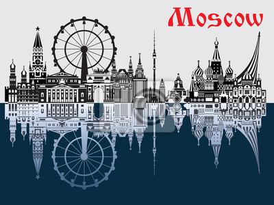 Moscow City Skyline vector 2