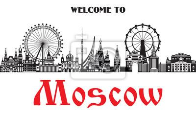 Moscow City Skyline vector 4