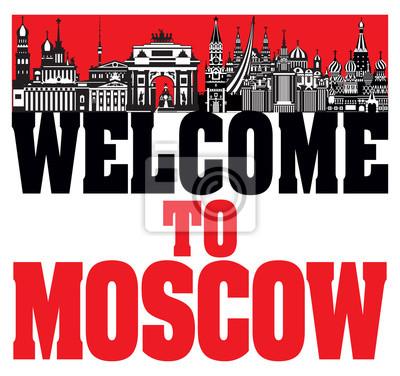 Moscow City Skyline vector 6