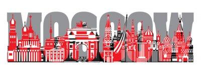 Moscow City Skyline vector 7