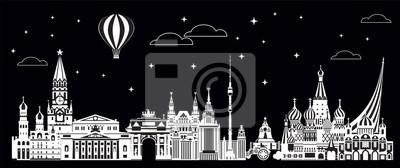 Moscow City Skyline vector 8