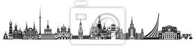 Moscow City Skyline vector 9