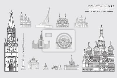 Moscow skyline line art 10