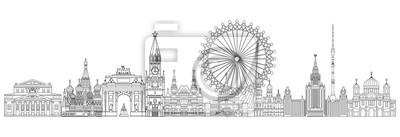 Moscow skyline line art 2