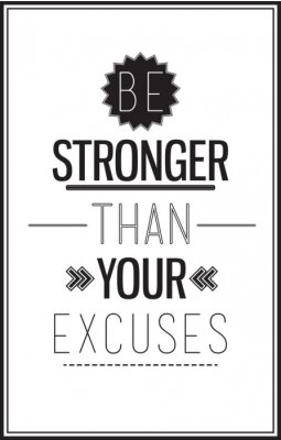 Motivation Plakat mit einem Zitat auf einem weißen Hintergrund