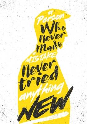 Sticker Motivierend Plakat. Vector typograhischen Konzept für Druck, Abdeckung, Karten oder Dekoration.
