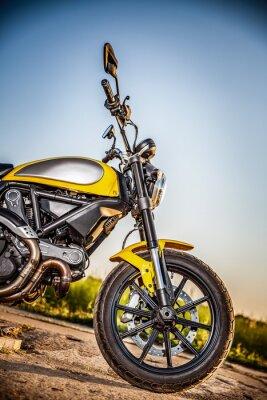 Sticker Motorrad auf der Straße