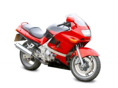 Sticker Motorrad isoliert