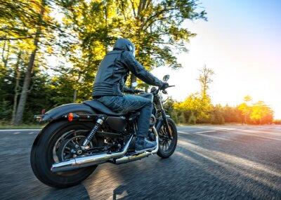 Sticker Motorradfahrer Reithacker auf einer Straße