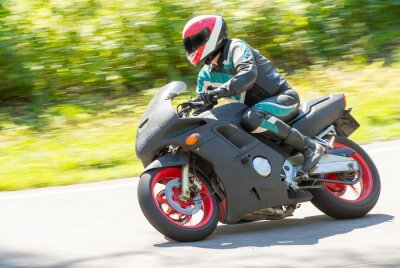 Sticker Motorradrennen