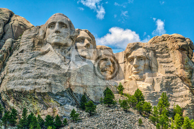 Sticker Mount Rushmore, iconic landmark