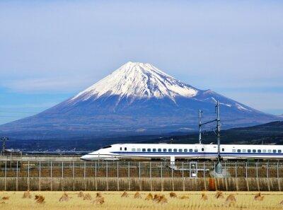 Sticker Mt. Fuji und die Bullet Train