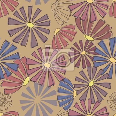 Multi-farbigen Blumenmuster. Nahtlose Hintergrund