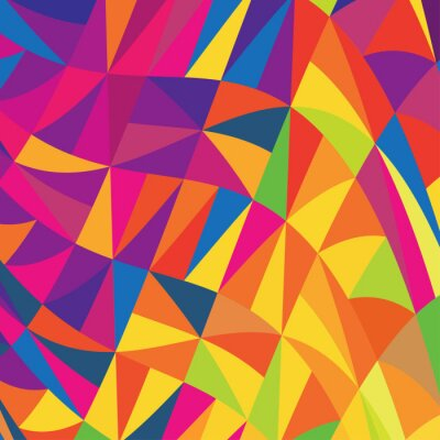 Multi-farbigen Dreiecke Hintergrund. Vector.