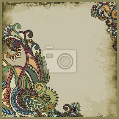 Multicolor floral Zweig auf Vintage-Hintergrund