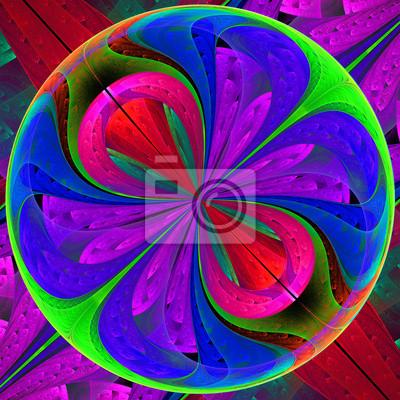 Multicolor fraktalen Muster wie ein Vergrößerungsglas. Computer-Gener