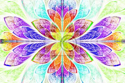 Multicolor schönen fraktalen Muster. Computer generierte Grafik