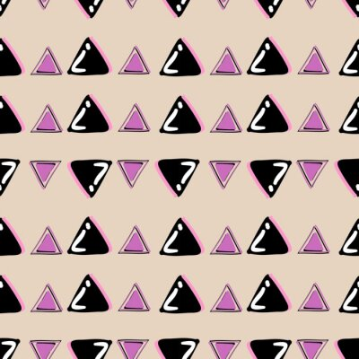 Multicolor triangle pattern with pink and black pattern