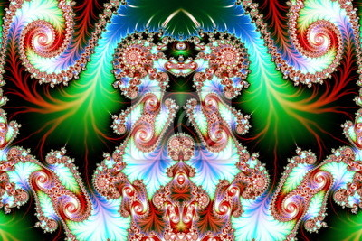 Multicolored Background with Spiral Pattern. Artwork for creativ