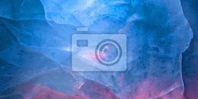 Sticker Multicolored glow ice texture background