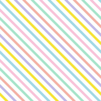 multicoloured diagonal stripes seamless pattern, flat vector, retro summer design