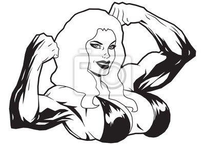 Muscular girl in bikini