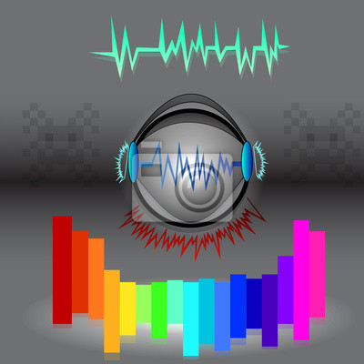 music icon with sound wave and