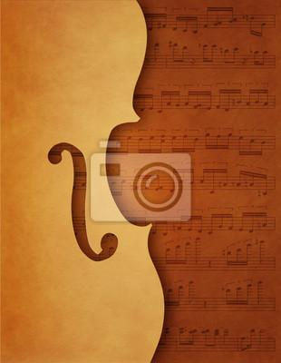 Musikalischer Hintergrund mit Violine Motiv