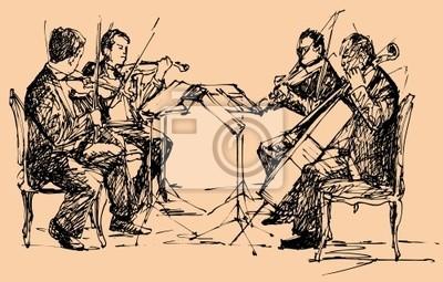 Musiker-Quartett