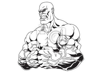 Muskulösen Arme