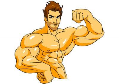 muskulösen Bodybuilder