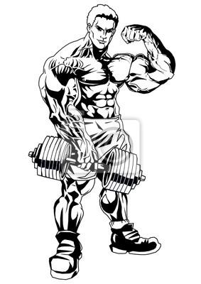 Muskulöser Mann