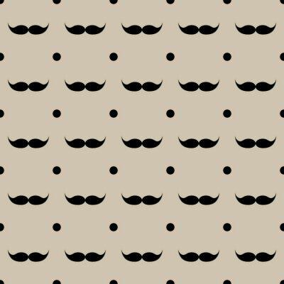 Sticker Mustache nahtlose Muster Vektor-Illustration eps 10