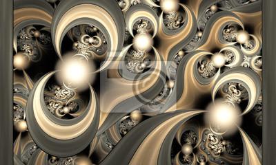 Muster wird leuchtete aus Kugeln und Kurven. Computer generierte