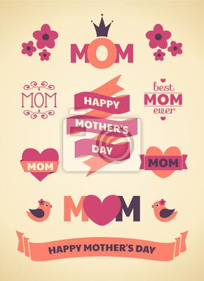 Muttertag Design-Elemente