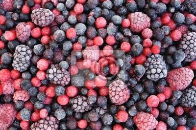 Sticker Nahaufnahme der gefrorenen gemischtes Obst - Beeren