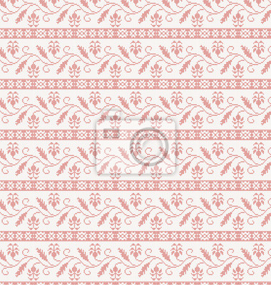 nahtlos gestrickten Muster mit roter Blume