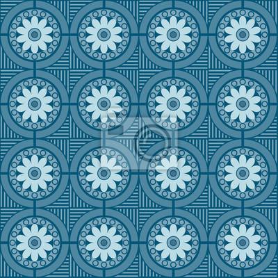 nahtlos Muster mit floralen und geometrischen Elementen, Muster-Farbfeld enthalten, vector