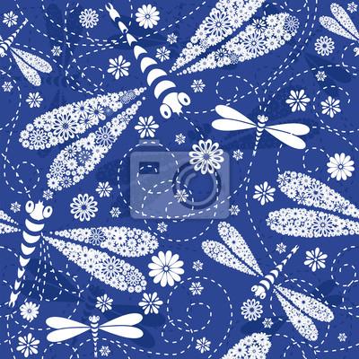 Nahtlose blauen Muster