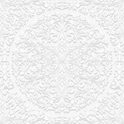 Sticker Nahtlose Blumenmuster im traditionellen Stil
