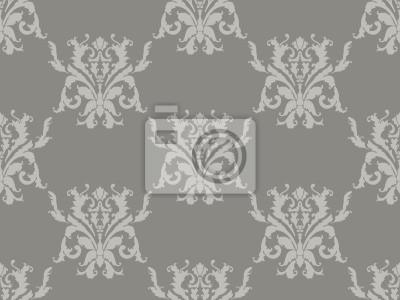 Nahtlose Damast-Tapete. Retro-Design