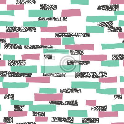 Nahtlose doodle Blöcke vertikalen Streifen Patchwork-Muster