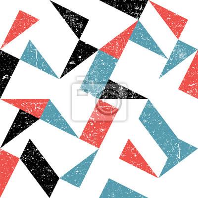 Nahtlose Dreiecke Muster. Zusammenfassung Grunge Hintergrund