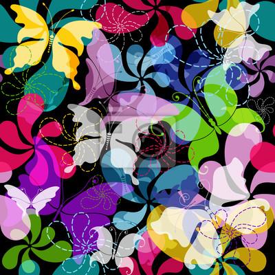 Nahtlose dunkel Blumenmuster