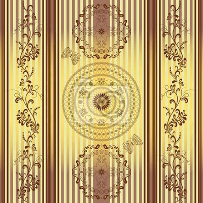 Nahtlose gestreift Vintage-Muster