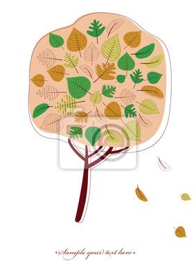 Nahtlose Herbst Baum