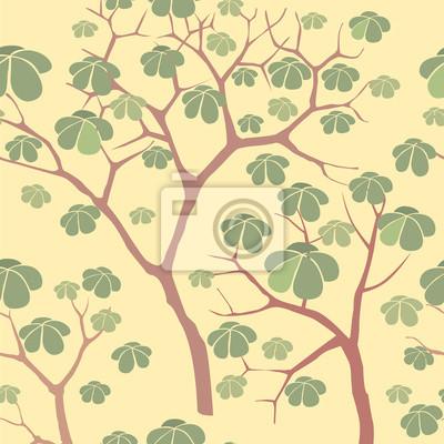 Sticker nahtlose Hintergrund der Pflanzenmotive im chinesischen Stil, Tapete