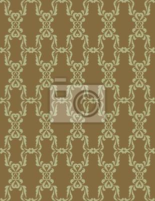 Sticker nahtlose Hintergrund der Pflanzenmotiven im Retro-Stil Tapete